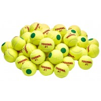 Tourna Green Dot Low Compression Tennis Balls - 60 pack