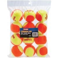 Tourna Kids #2 Orange Balls Youth Tennis Play -12 Pack