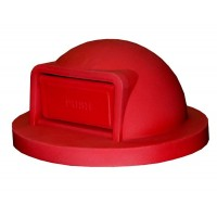 Trash Receptacle Dome Top-Red