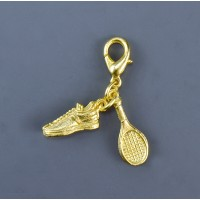 Tennis Racquet and Shoe Zipper Pull