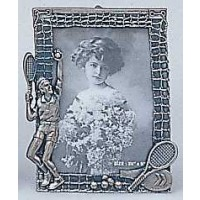 "Pewter Tennis Picture Frame-Male (3 1/2 x 5"" picture size)"