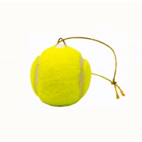 Mini Tennis Ball Ornament With Authentic Felt Cover