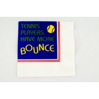 "Tennis Cocktail Napkins ""More Bounce"""