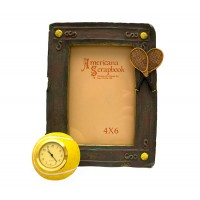 Tennis Picture Frame with Clock (Picture size: 4 x 6)