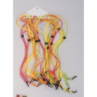 Rubber Spec Cords Assorted Bright Colors (Dozen)