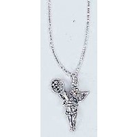Silver Lady Angel Necklace