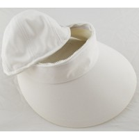 Cushees Convertible Hat/Visor White