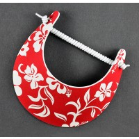Red Hibiscus Flower Visor