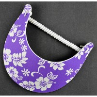 Purple Hibiscus Flower Coil Visor