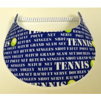 Foam Visor-Tennis Terms