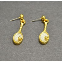 Tennis Racquet Dangle Earrings