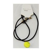 Tennis Ball Necklace with Black Cord