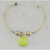 Tennis Ball Bangle Bracelet, Silver