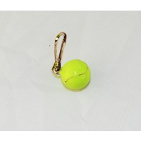 Tennis Ball Charm Zipper Pull