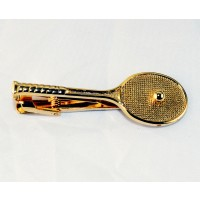 Racquet Tie Clasp, Gold