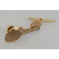 Racquet Tie Tac, Brass
