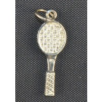 Sterling Silver Charm-Racquet
