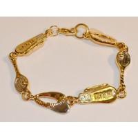 Tennis Charm Link Bracelet