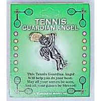 Tennis Guardian Angel Pin