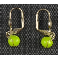 Tennis Earrings Silver w/Color Ball
