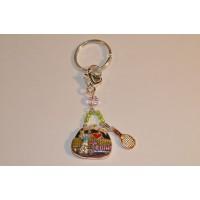 Tennis Bag Keyring w/Beads