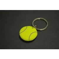 Tennis Ball Keyring-Rubber 3D
