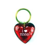 """I LOVE TENNIS"" Keyring-Red"