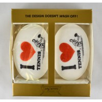 Tennis Picture Soap-I Love Tennis-2/Package