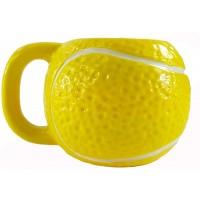 Tennis Ball Shape Ceramic Mug