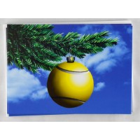 Tennis Ball Ornament Xmas Card (10 pack)