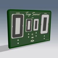 Top Score Digital Net Mounted Self Scoring Tennis Scoreboard-Green