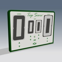 Top Score Digital Net Mounted Self Scoring Tennis Scoreboard-White