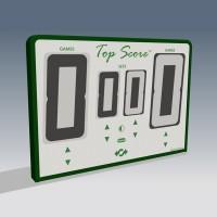 Top Score Digital Net Mounted Self Scoring Tennis Scoreboard-White