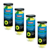 Tourna Kids Green Dot Balls - Pressurized 4 Can Pack