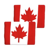 Tourna Canadian Flag Wristbands