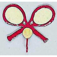 Crossed Racquet Hook