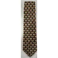 Tennis Tie-Black w/Crossed Racquets