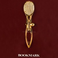 Gold Plate Racquet/Ball Bookmark