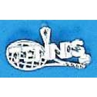 Silver Racquet Charm-Tennis
