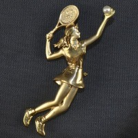 Tennis Pin-Lady Serving