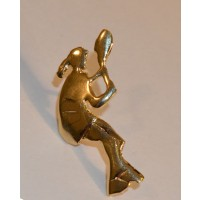 Lady Player Pin-Polished Gold