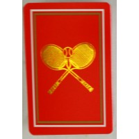 Tennis Playing Cards-Single Red