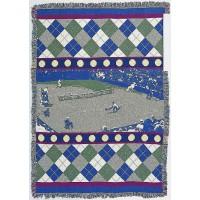 "Tennis Afghan ""Tennis Match"""