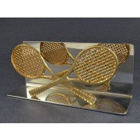 Chrome & Gold Letter Holder