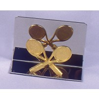 Chrome & Gold Business Card Holder