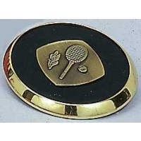 Tennis Coaster-Leather/Brass
