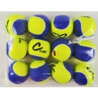 Clarke Pressureless Tennis Balls Yellow/ Blue (12)