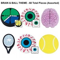 Gamma String Thigns Jar 60 Count - Eyeball, Racquet, Tennis Ball