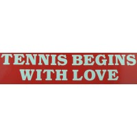 "Tennis Sticker ""Tennis Begins"""