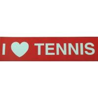 """Tennis Sticker """"I Love Tennis"""""""
